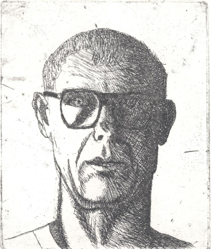 Earl Staley (born 1938); Self Portrait, 1990; etching (109x91 mm)