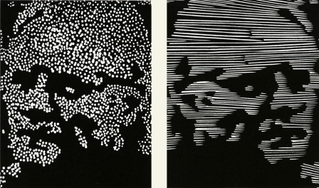 Richard Ash (1943-2019); Self Portraits, 2009; linocuts (each 381x284 mm)