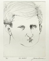 James Dormer (born 1934); Self-Portrait, 1967; engraving (229x218 mm)