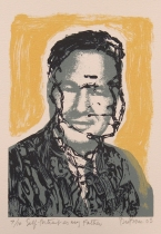 David Dubose (born 1956); Self-portrait as My Father, 2003; screenprint (170x120 mm)