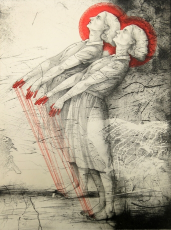 Kathryn Polk (born 1952); Beside Myself, 2013; lithograph (380x288 mm)