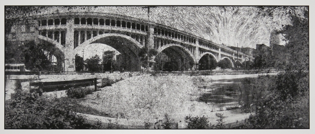 Untitled, from the series, Bridging Cleveland, 2013-18; pigment inkjet print; image: 332x815mm