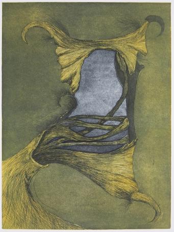 Penny Cerling; Skate Egg, 1981; etching; 603x448 mm
