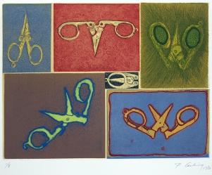 Penny Cerling; Scissors, 1982; 28x300 mm