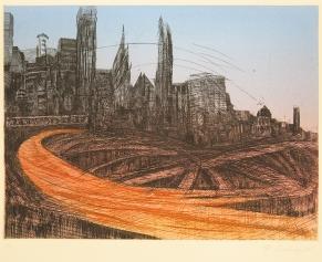 Penny Cerling; North Freeway; etching; 225x300 mm
