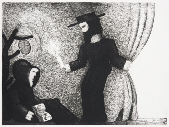 Richard Thompson; Dreamer at Dawn, 1982; etching and aquatint; 455x595; printed by Penny Cerling