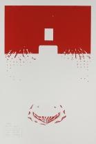 Kent Kapplinger; GFYS (layer #1, red), 2010; screen print