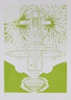 Kent Kapplinger; GFYS (Layer #2, trans green), 2010; screen print