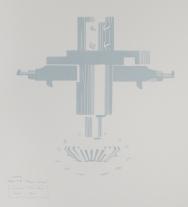 Kent Kapplinger; GFYS (layer #4, trans blue), 2010; screen print