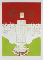 Kent Kapplinger; GFYS (red and green layers), 2010; screen print