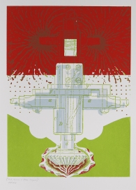 Kent Kapplinger; GFYS (red, green and blue layers), 2010; screen print