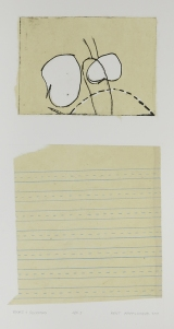 Kent Kapplinger; Rocks and Scissors, 2001; etching and chine collection