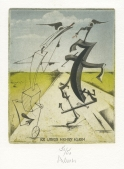 Josef Werner (German); Going to St. Ives, 2011; etching, aquatint, hand colored, inkjet; 203x167 mm