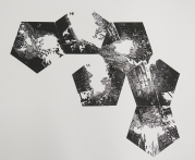 Neal Cox; Untitled proof no. 3 (From stellated dodecahedron camera), 2014; Linocut; 573mmx635mm
