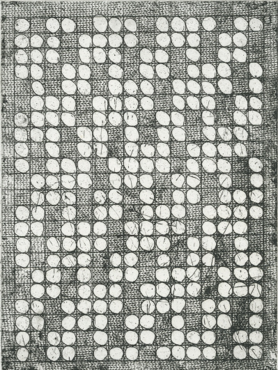 Neal Cox; 1-2-3-4-5-4-3-2-1, 2014; Etching, soft ground; 256mmx188mm; Edition 4/8