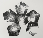 Neal Cox; Untitled Proof no. 2 (from stellated dodecahedron on camera), 2014; Linocut; 570mmx610mm