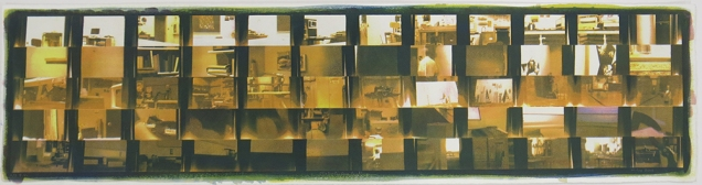 Neal Cox; ExSimPanCam Grid, 2015; Gum bichromate over cyanotype; 758mmx758mm; Edition 2/3