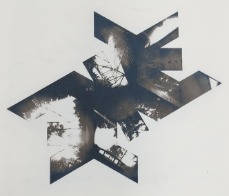 Neal Cox; West Texas Quadrangle, 2015; Gum bichromate over cyanotype; 486mmx415mm; Edition 2/3