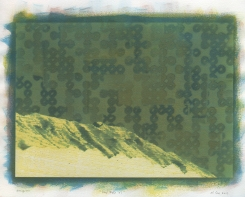 Neal Cox; Timp View 07, 2017; Gum bichromate; 355mmx355mm; Monoprint