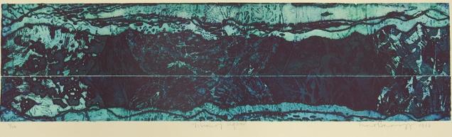 Mort Baranoff; Vision of Ugbar, 1966; etching; 187x725mm