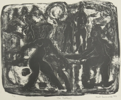 Mort Baranoff; The Bathers, 1958; lithograph; 380x501mm