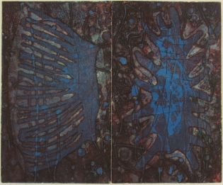 Mort Baranoff; Sea Forms, nd; etching; 231x279mm
