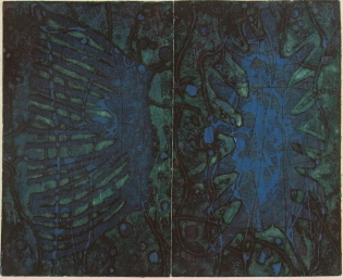 Mort Baranoff; Sea Forms, nd; etching; 229x279mm