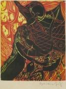 Mort Baranoff, Sailor's Dream, nd; woodcut; 128x104mm