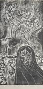Mort Baranoff; Mexico, nd; woodcut; 596x295mm