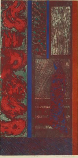 Mort Baranoff; Blue Woman, nd; etching; 908x457mm