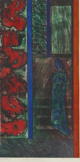 Mort Baranoff; Blue Woman, nd; etching; 893x452mm
