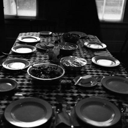 Kristin Capp; Dinner Table, Whidbey Island, Washington, 1997; inkjet pigment print; 505x510mm