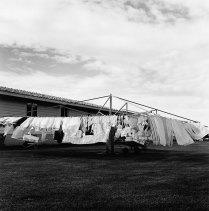 Kristin Capp; Community Drying Rack, Warden Colony, Washington, 1996; inkjet pigment print; 525x519mm