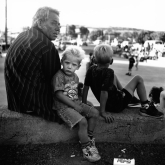 Kristin Capp; Father and Son, Soap Lake, Washington, 1994; inkjet pigment print; 508x510mm