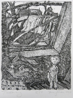 Margo Kren; Awakening, from Dreams and Memories, 1982-83; lithograph; 240x192mm