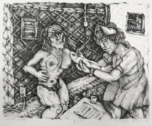 Margo Kren; School Nurse, from Dreams and Memories, 1982-83; lithograph; 193x240mm
