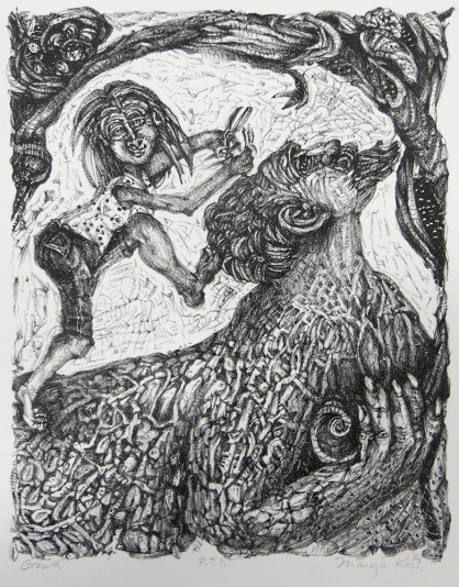 Margo Kren; Growth, from Dreams and Memories, 1982-83; lithograph; 240x192mm