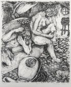 Margo Kren; Bath, from Dreams and Memories, 1982-83; lithograph; 240x192