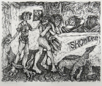 Margo Kren; Disnaturing, from Dreams and Memories, 1982-83; lithograph; 193x240mm
