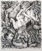 Margo Kren; Garden, from Dreams and Memories, 1982-83; lithograph; 240x192mm