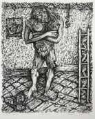 Margo Kren; Snake Eyes, from Dreams and Memories, 1982-83; lithograph; 240x192mm
