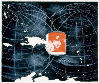 Vernon Fisher; Perdido en el mar, 1989; lithograph; 630x756mm